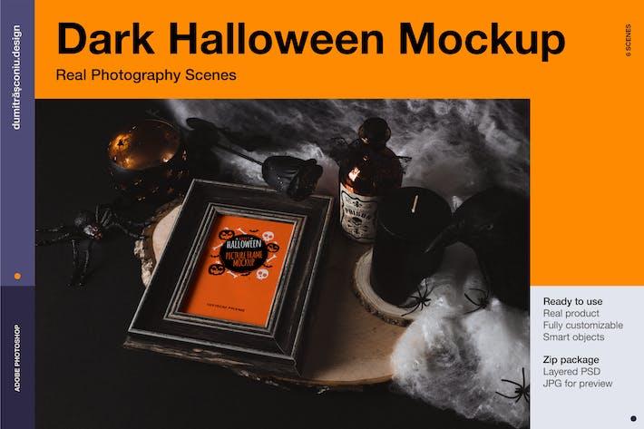 Thumbnail for Dark Halloween Mockup Scenes
