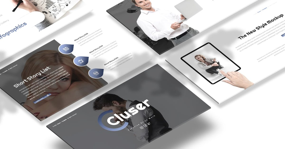 Download Cluser - Business Presentation Template by Macademia