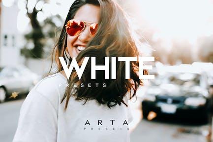 Пресеты ARTA | Чистый белый | Для мобильных и настольных ПК