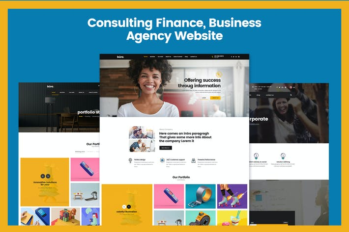 Thumbnail for Consulting Finance, Business Agency Website