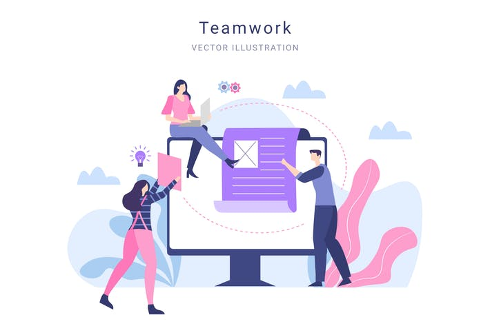 Thumbnail for Teamwork Vector Illustration