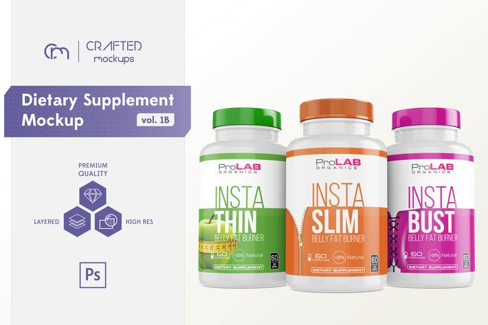 Thumbnail for Dietary Supplement Mockup v. 1B