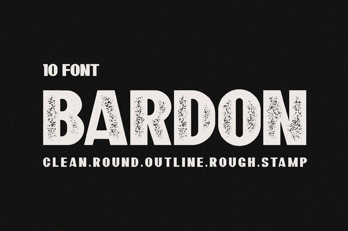 Bardon Fonts Family + 10 Style Fuentes