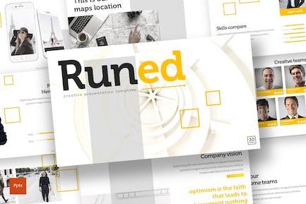 Runed - Powerpoint Template