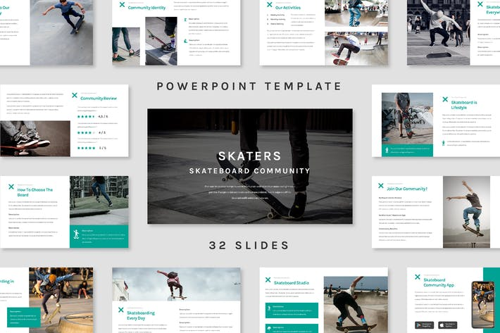 Thumbnail for Skater - Powerpoint Template