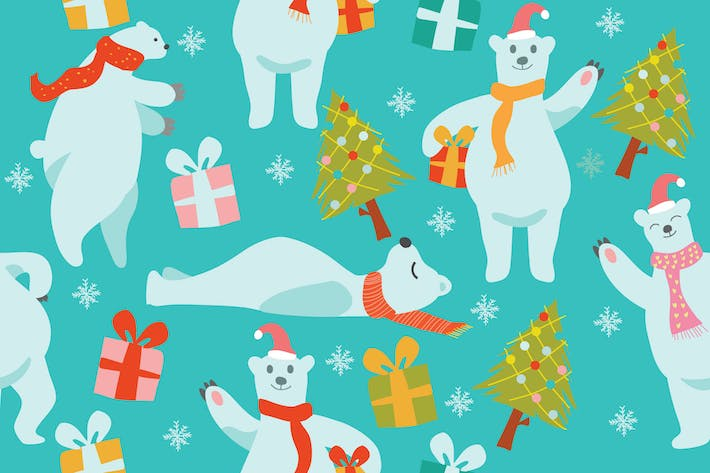 Thumbnail for Polar Bear Pattern - Vector Illustration