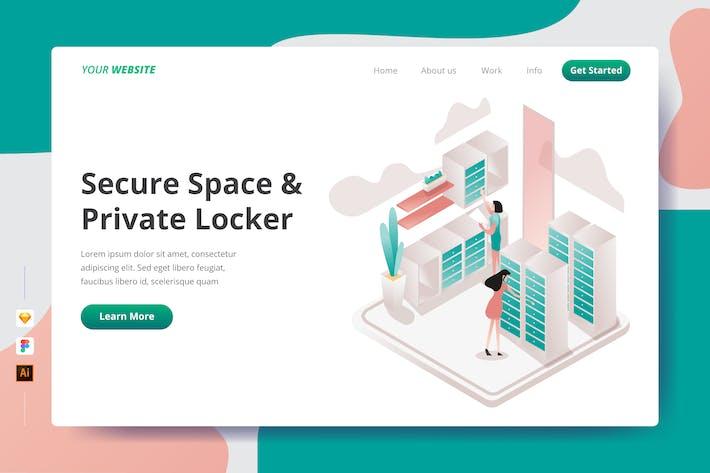 Thumbnail for Безопасное пространство и частный шкафчик - Landing Page