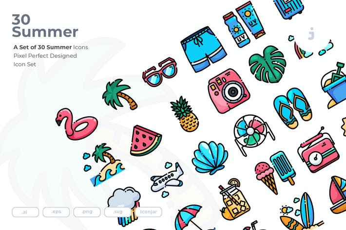 Thumbnail for 30 Summer Icons