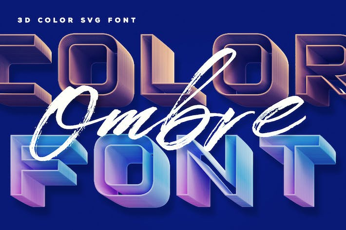 Thumbnail for Ombre Color Font