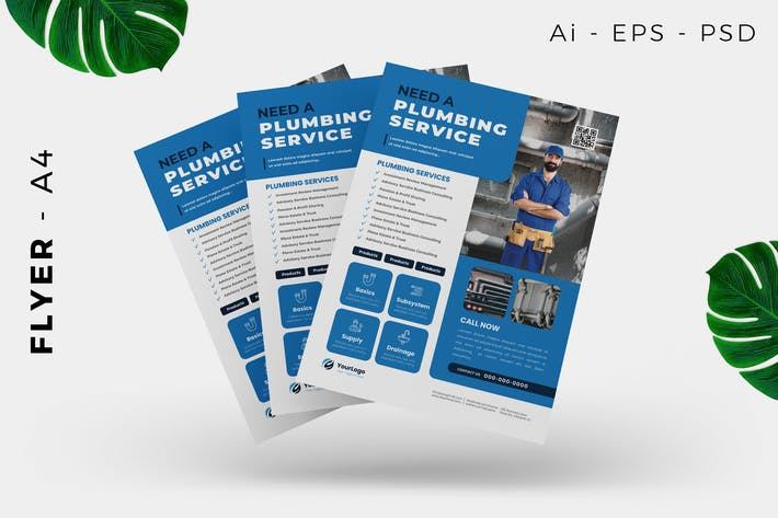Thumbnail for Plumbing Service Flyer Design