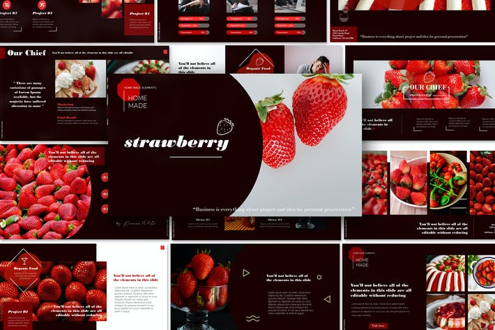 Thumbnail for Strawberry - Powerpoint Template