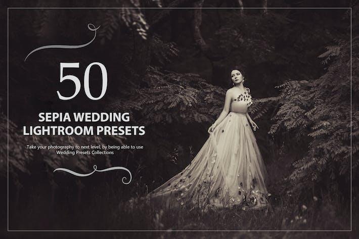 50 Sepia Свадебный Пресеты Lightroom