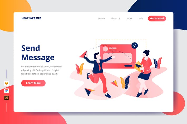 Thumbnail for Send Message - Landing Page