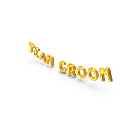 Globo Foil Words Team Groom Gold