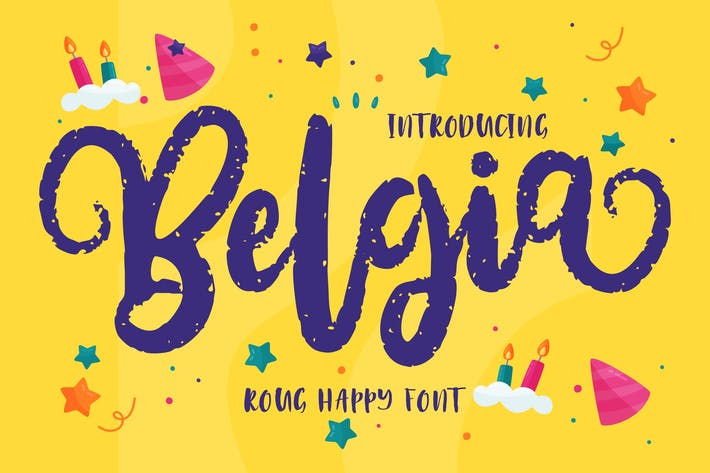 Cover Image For Belgia | Decorative Happy Font