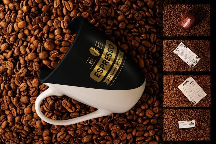 Thumbnail for Kaffee-Mockup Branding Set