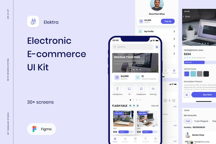 Elektra - Electronic E-commerce UI Kit