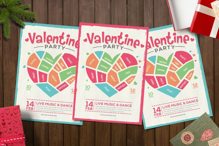 Thumbnail for Aesthetic Valentine Party Flyer