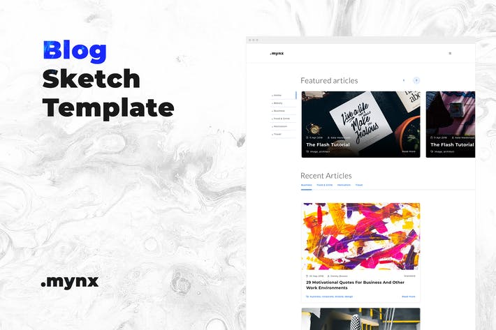 Thumbnail for Personal Blog Sketch Template – Mynx