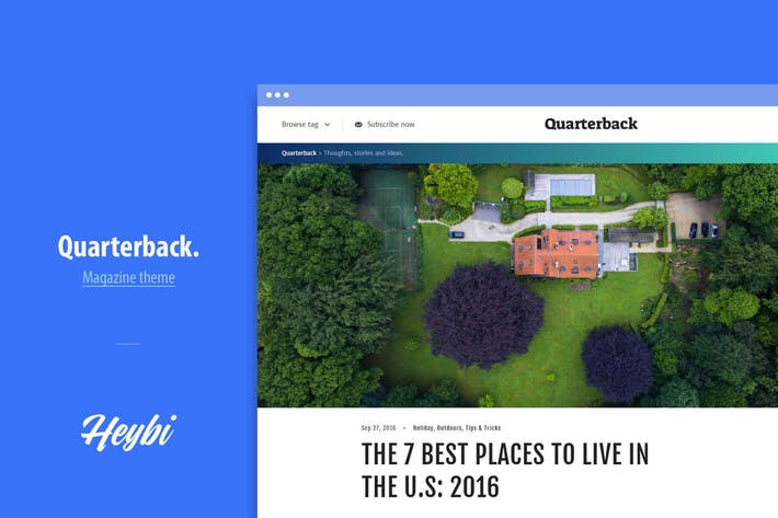 Thumbnail for Quarterback: Responsive Magazine Theme