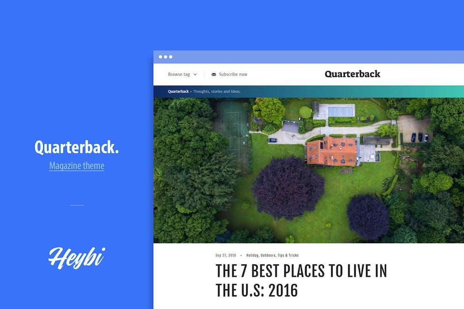 Download Quarterback: Responsive Magazine Theme by Heybi