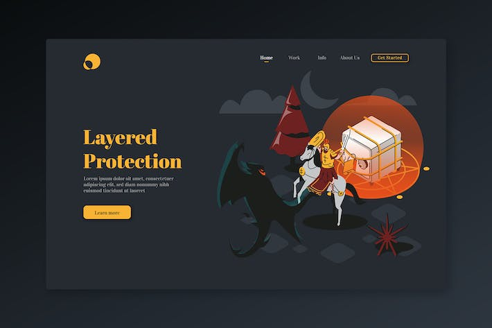 Thumbnail for Layered Protection - Isometric Landing Page