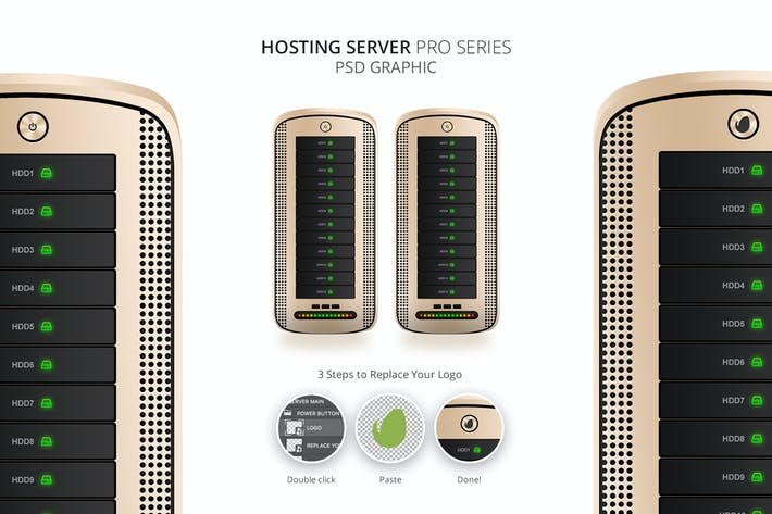 Hosting Server Pro Series GOLD Single PSD