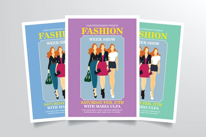 Thumbnail for Fashion Week Flyer Template Vol. 2