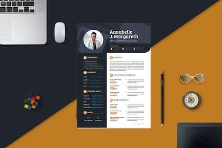 Sleek Digital Marketing CV Resume Template