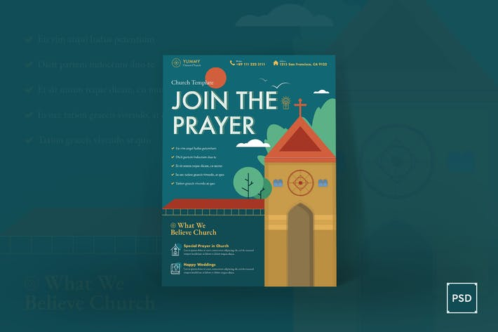 Thumbnail for Church Poster PSD Template