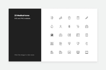 Medical Icons - Line style