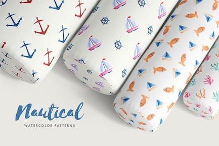 Nautical Watercolor Patterns