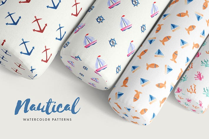 Thumbnail for Nautical Watercolor Patterns