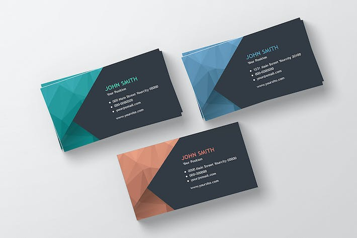 Thumbnail for Modern Polygonal Business Card