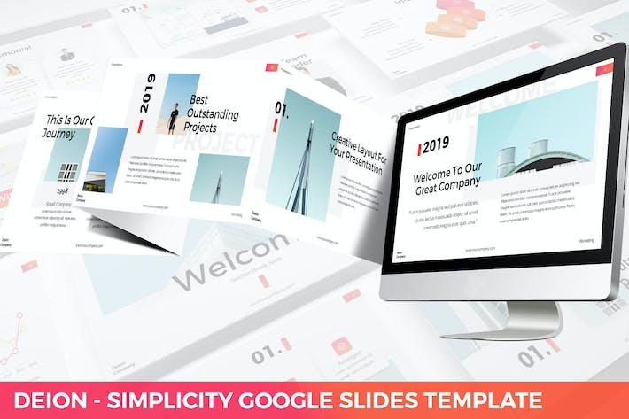 Thumbnail for Deion - Simplicity Google Slides Template