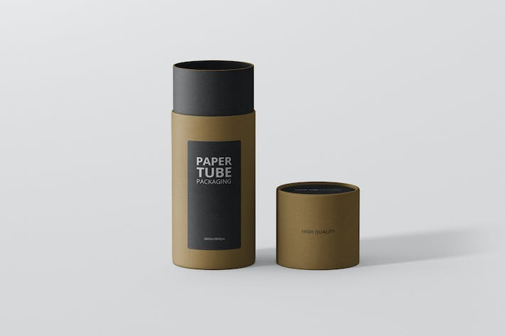 Thumbnail for Paper Tube Packaging Mockup - Slim Short