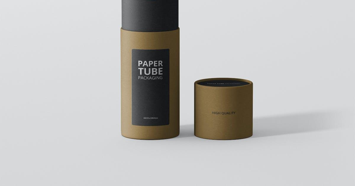 Download Paper Tube Packaging Mockup - Slim Short by visconbiz