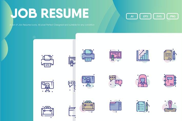 Thumbnail for Job Resume Icon Pack