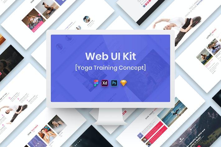Thumbnail for Yoga Training Web UI Kit