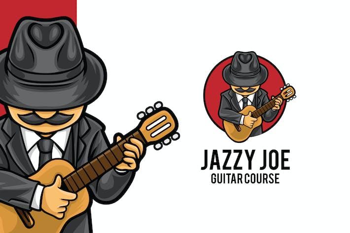 Thumbnail for Guitar Course Logo Mascot Template