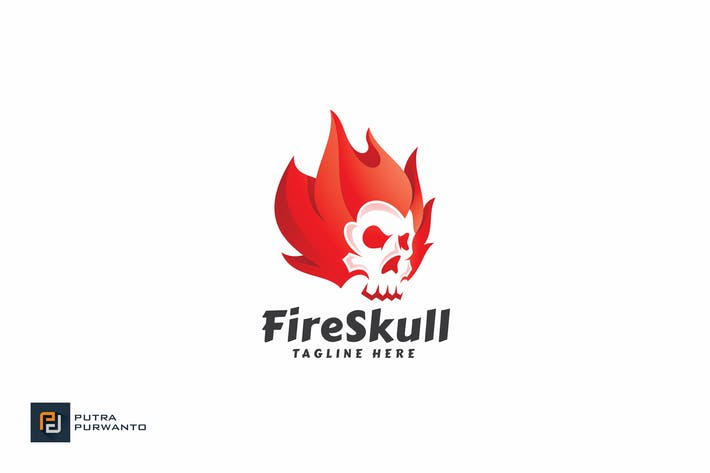 Thumbnail for Fire Skull - Logo Template