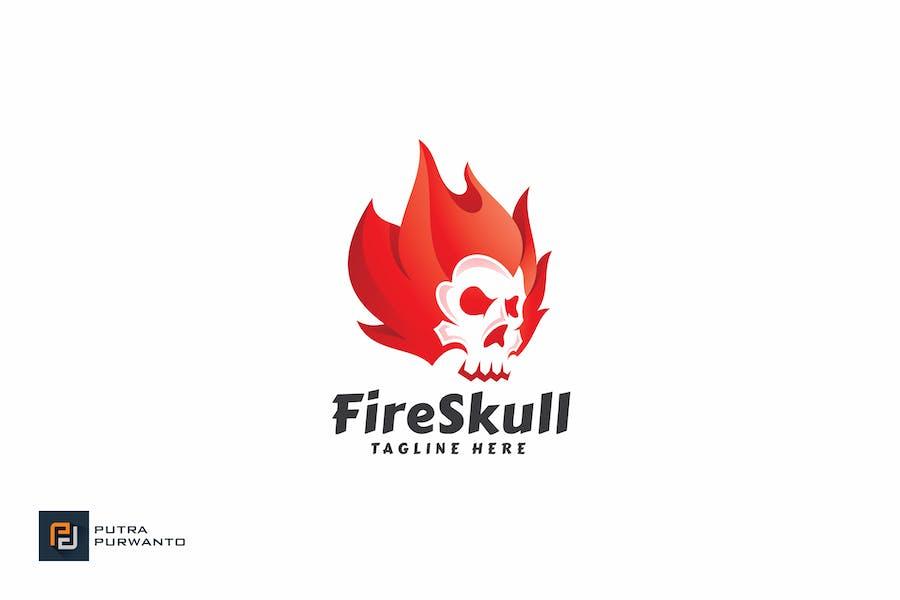 Fire Skull - Logo Template