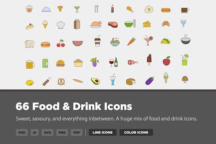 66 Icons für Essen & Trinken