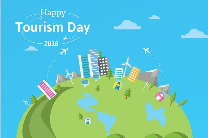 Thumbnail for Happy Tourism Day Background