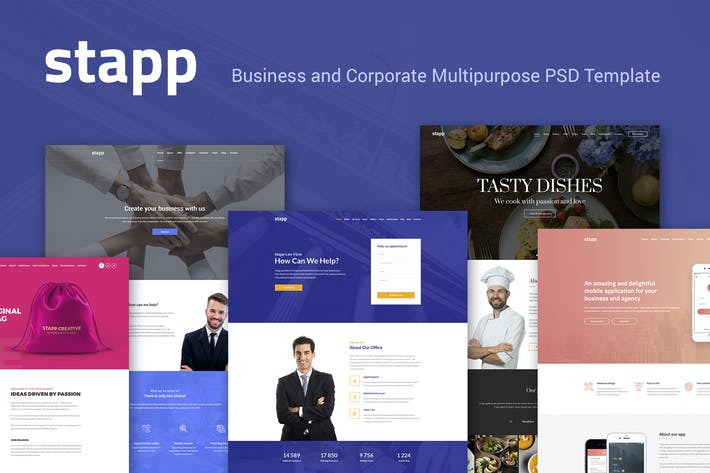 Thumbnail for Stapp – Business Multipurpose PSD Template