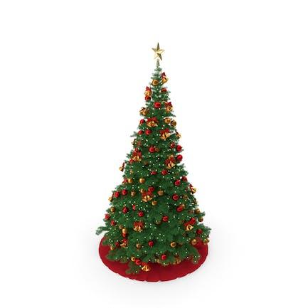 Рождественская елка с золотой звездой Топпер