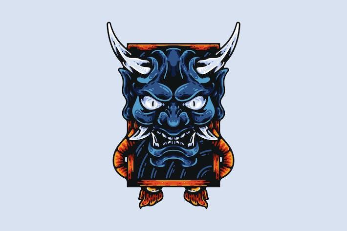 Thumbnail for Japanese Demon Mask