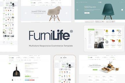 Furnilife - Mobiliario, Decoraciones Tema OpenCart