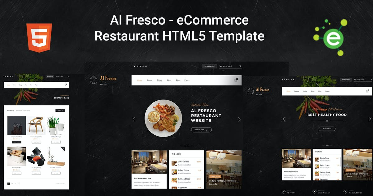 Download AlFresco – eCommerce Restaurant HTML5 Template by envalab