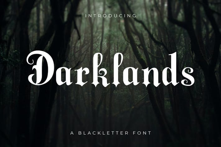 Thumbnail for Darklands - A Blackletter Font